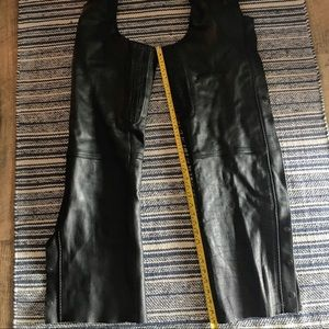 Unisex leather chaps, very clean, like new